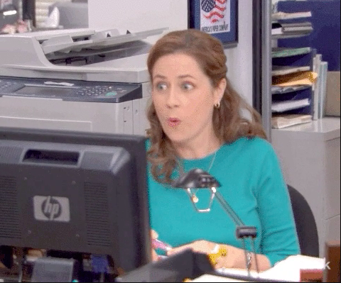 """Pam looking shocked from """"The Office"""""""