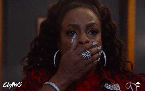 """Niecy Nash on """"Claws"""" covering her mouth in shock"""