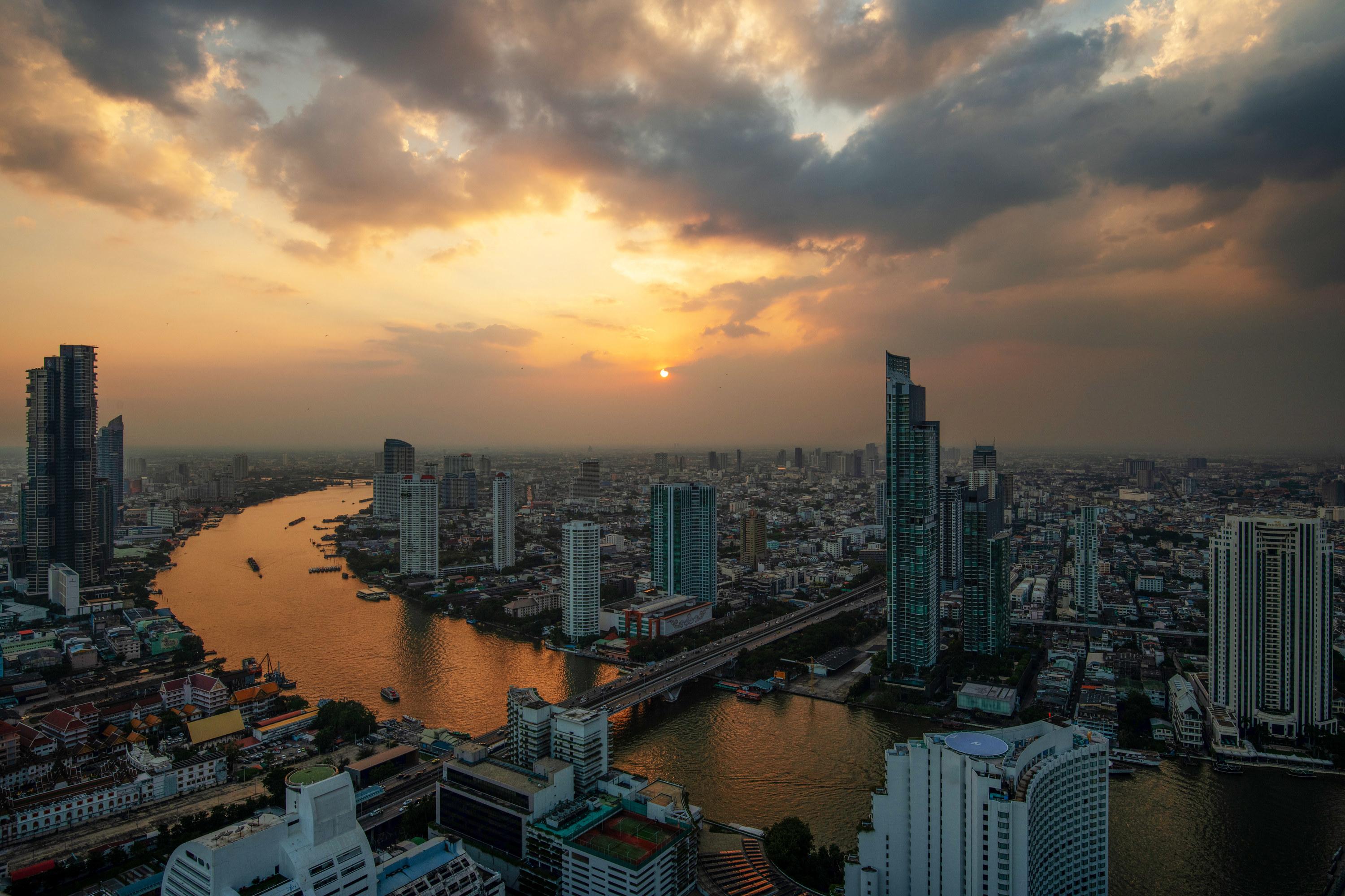 An aerial view of Bangkok