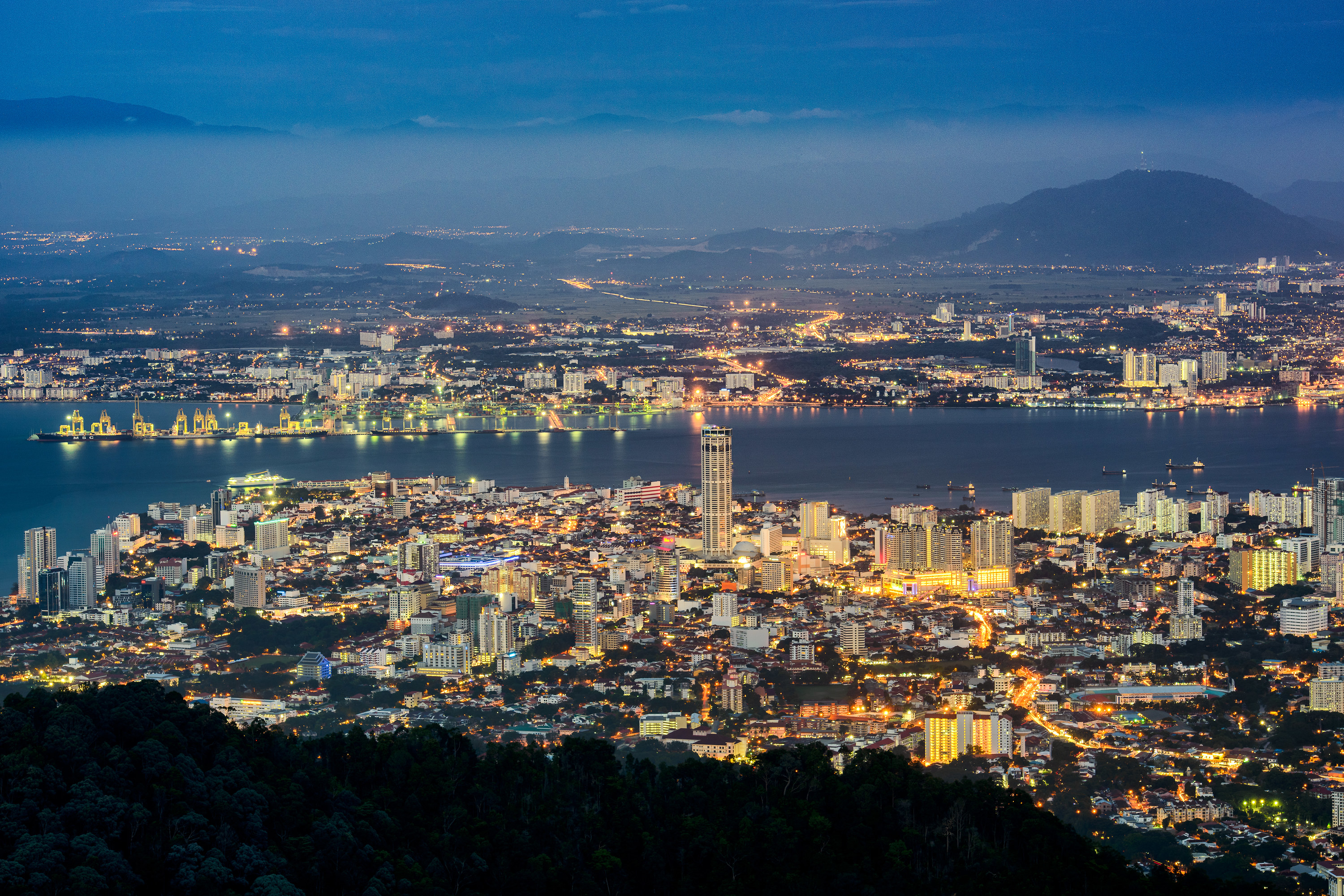 A city view from Penang Hill