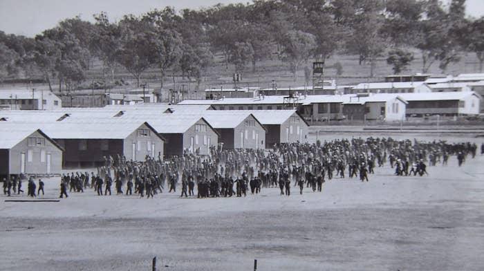 カウラにあった捕虜収容所の写真