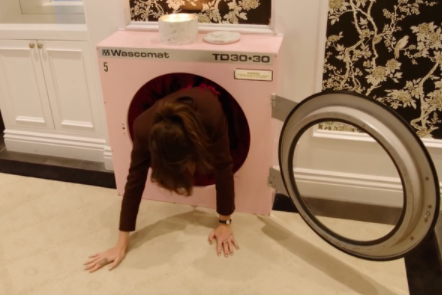 A door that looks like a washing machine