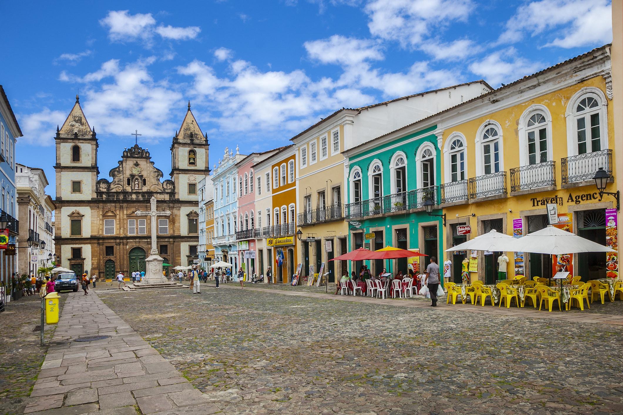 Colorful buildings inSalvador de Bahia.