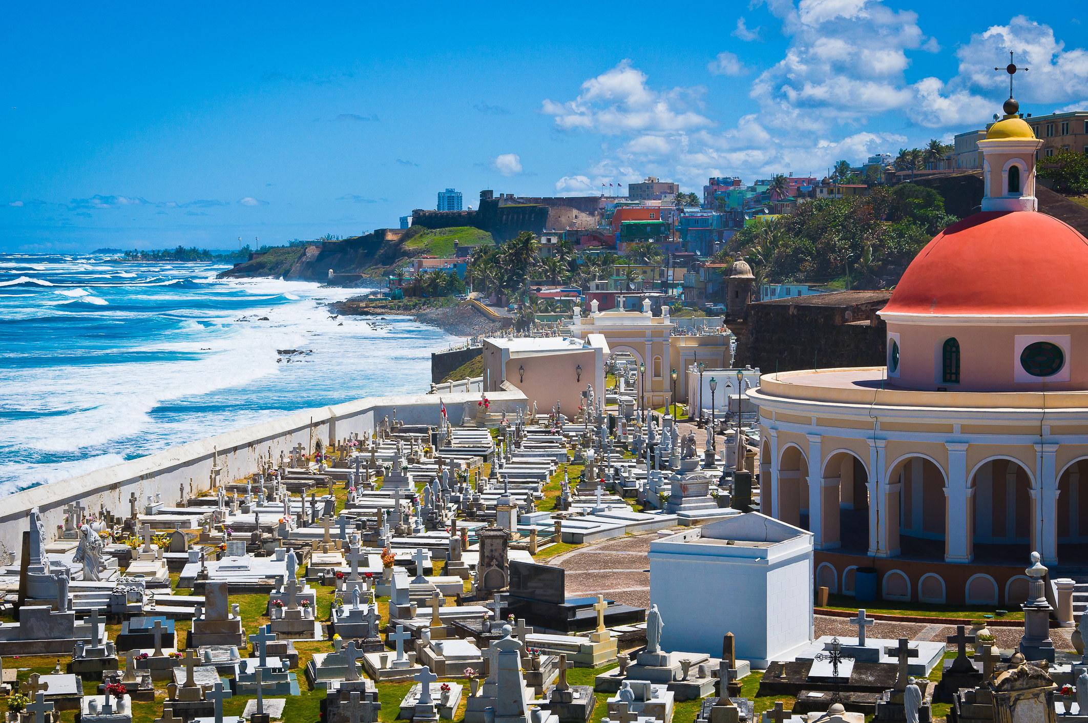 Old San Juan, Puerto Rico by the sea.
