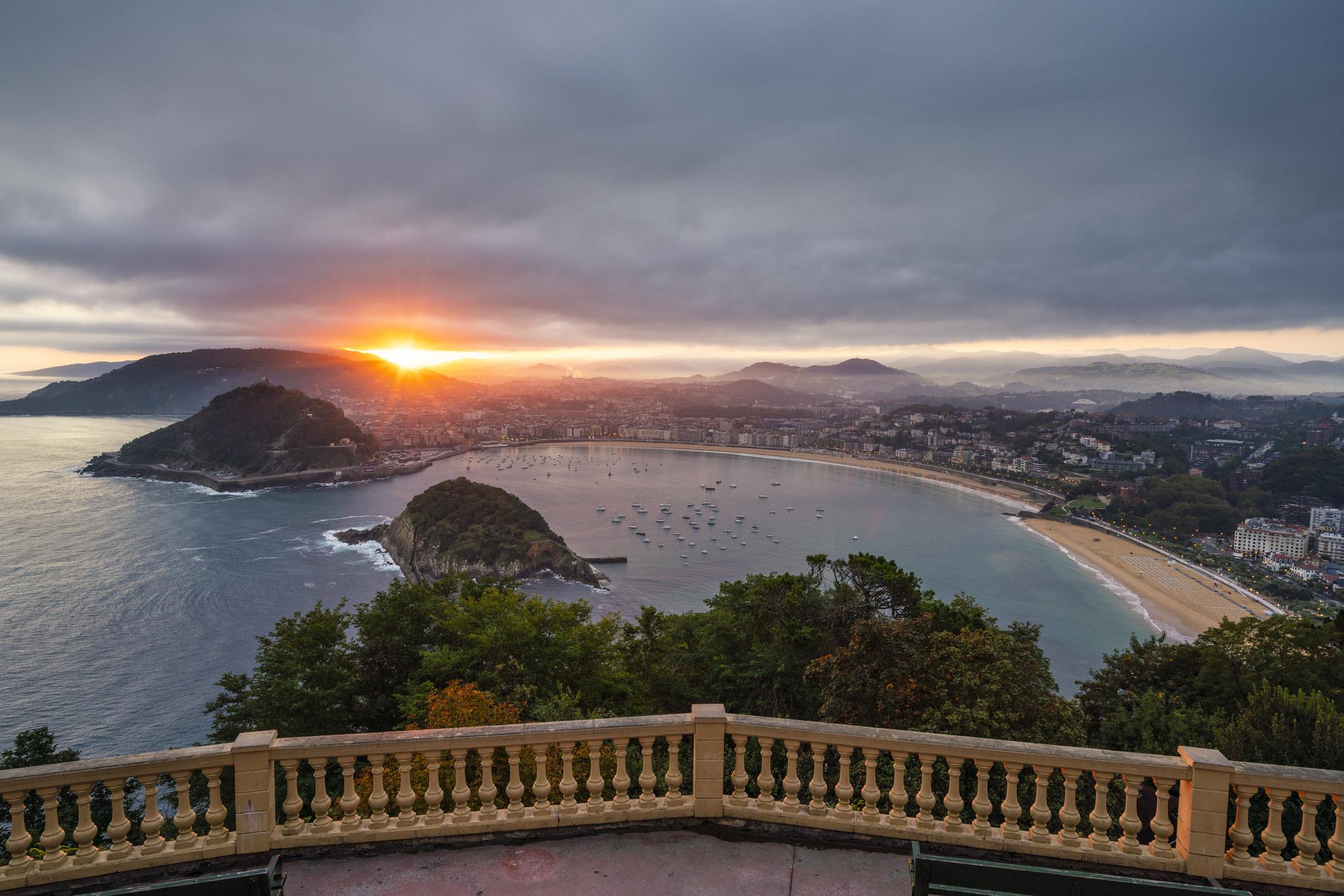 A view looking down at San Sebastian.