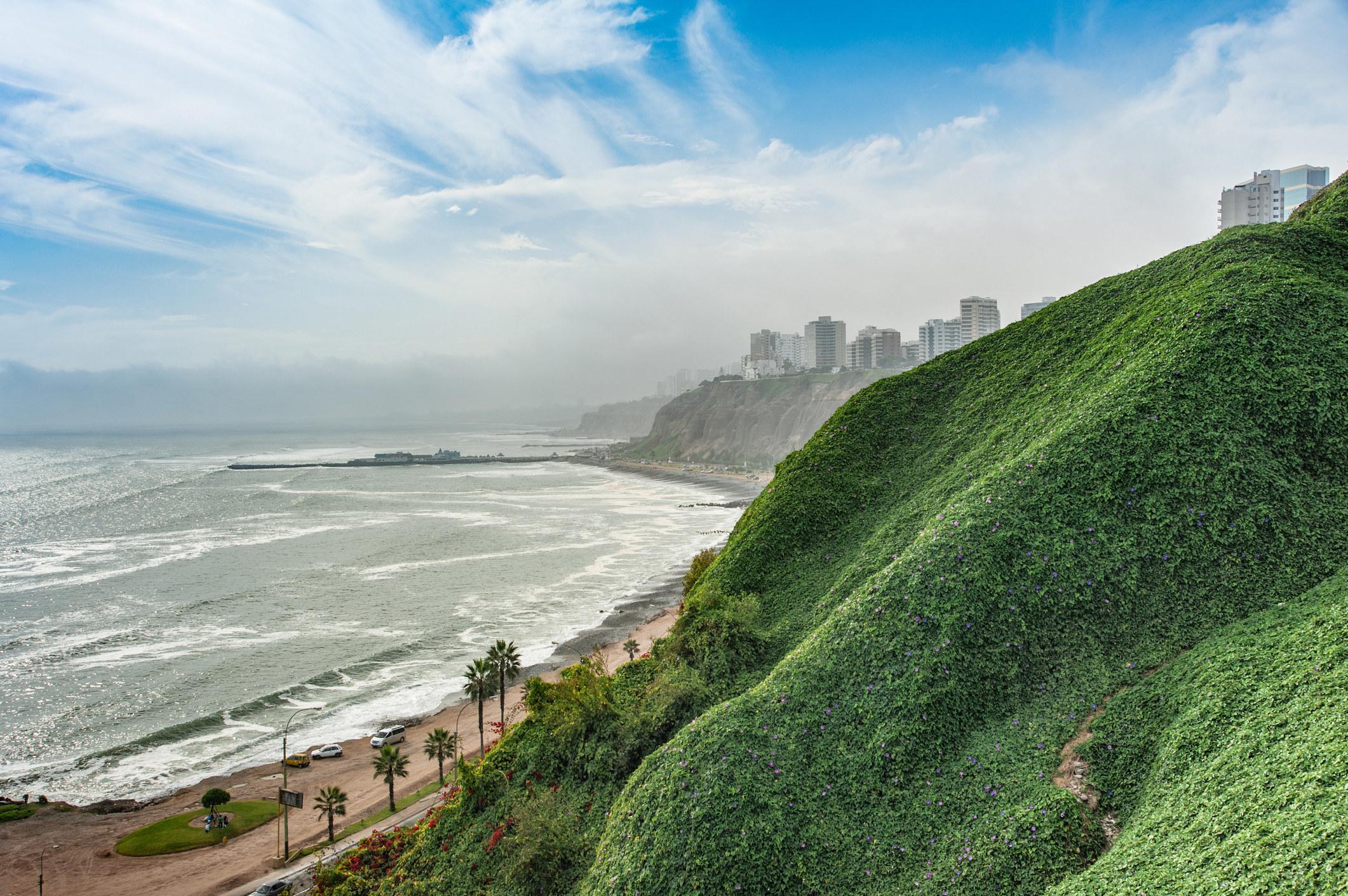 Seaside hills in Lima.