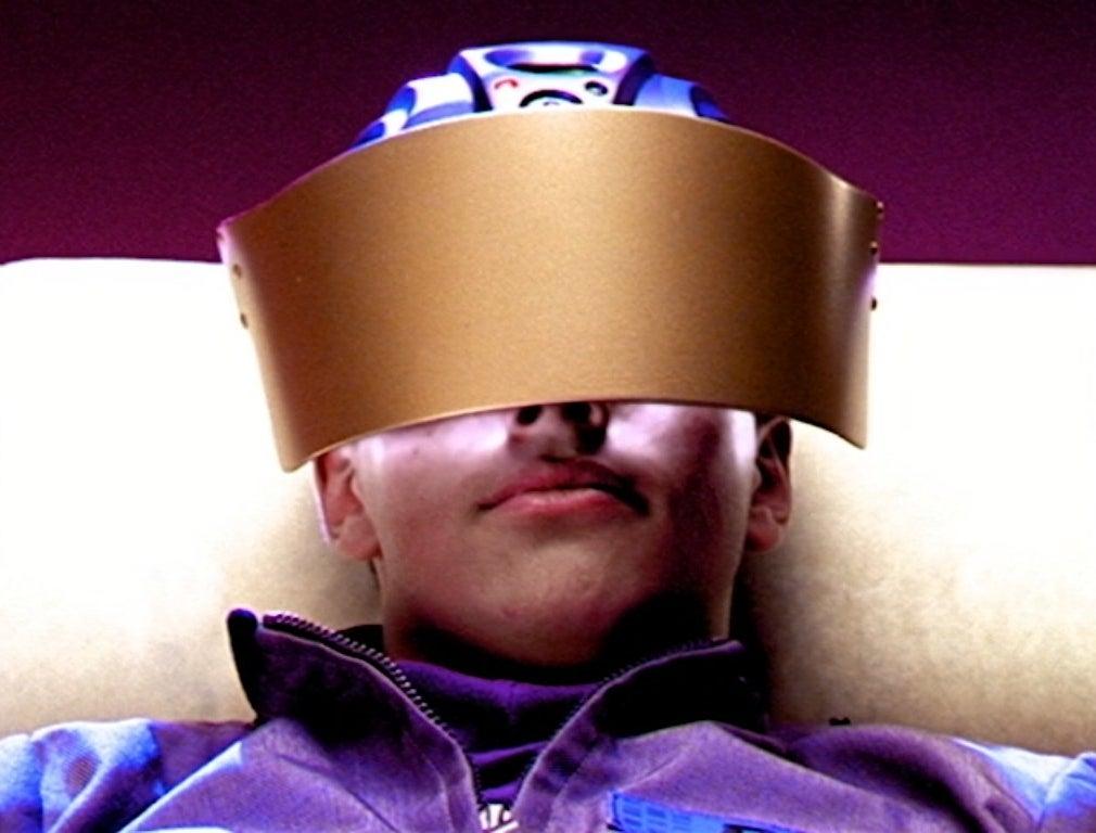 Ricky Ullman wears a VR headset