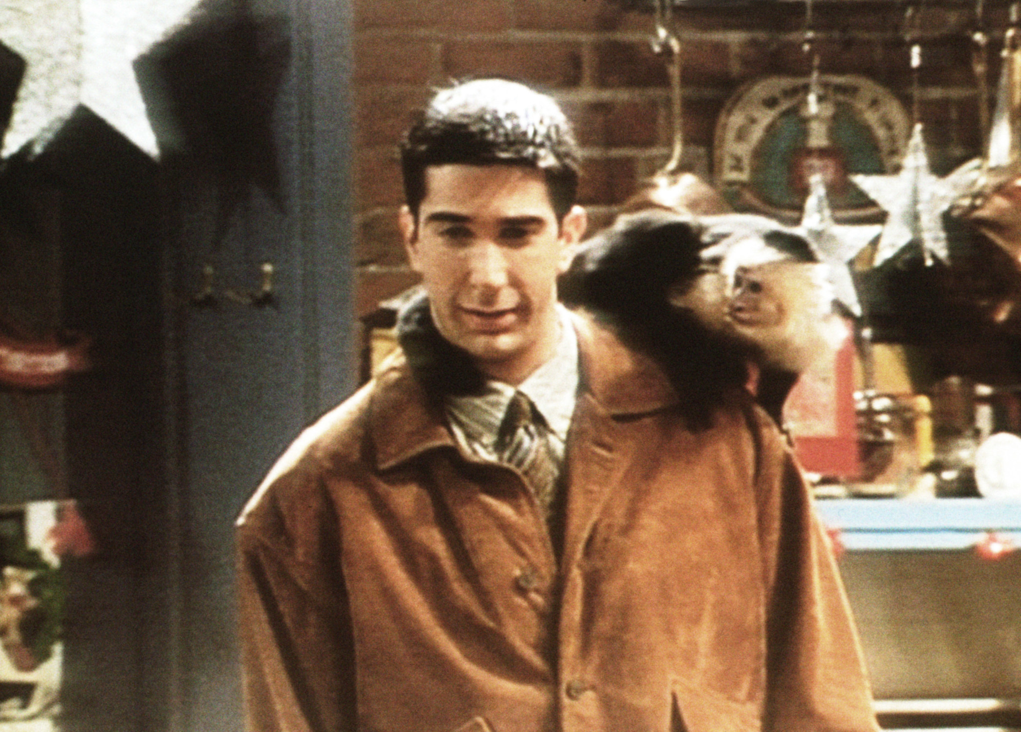 Ross with monkey on his shoulder