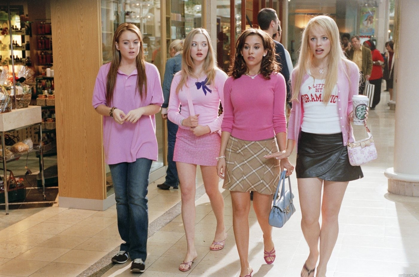 Cady wears pink so she can hang out with the Plastics