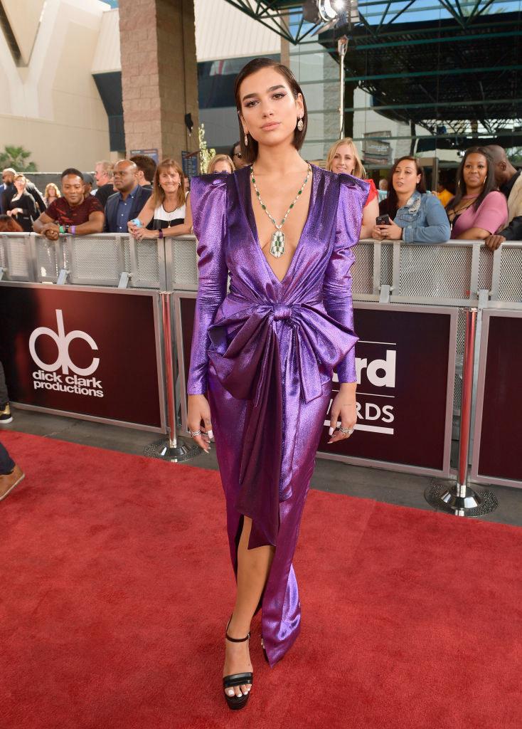 Dua Lipa attends the 2018 Billboard Music Awards at MGM Grand Garden Arena