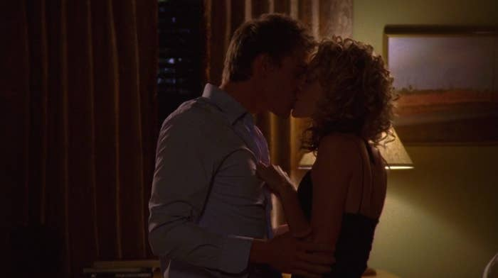Lucas and Peyton making out