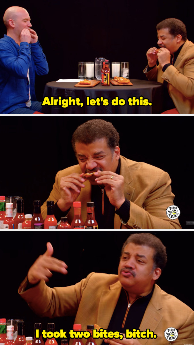 "Neil deGrasse Tyson saying, ""I took two bites, bitch"""