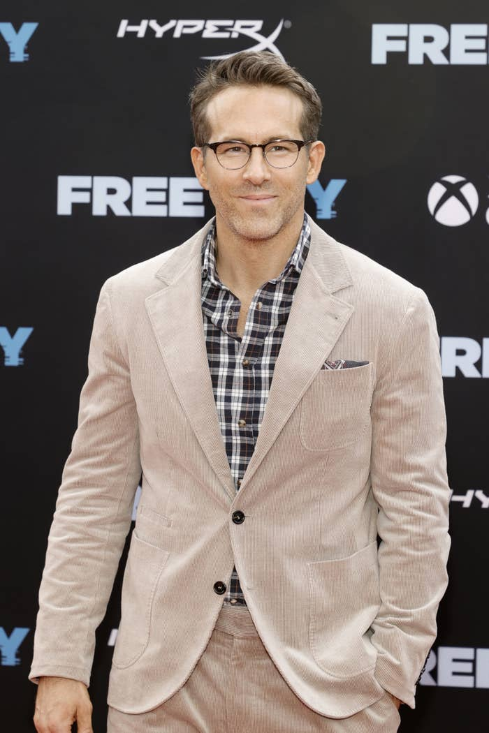 Ryan Reynolds attends the Free Guy premiere in New York City