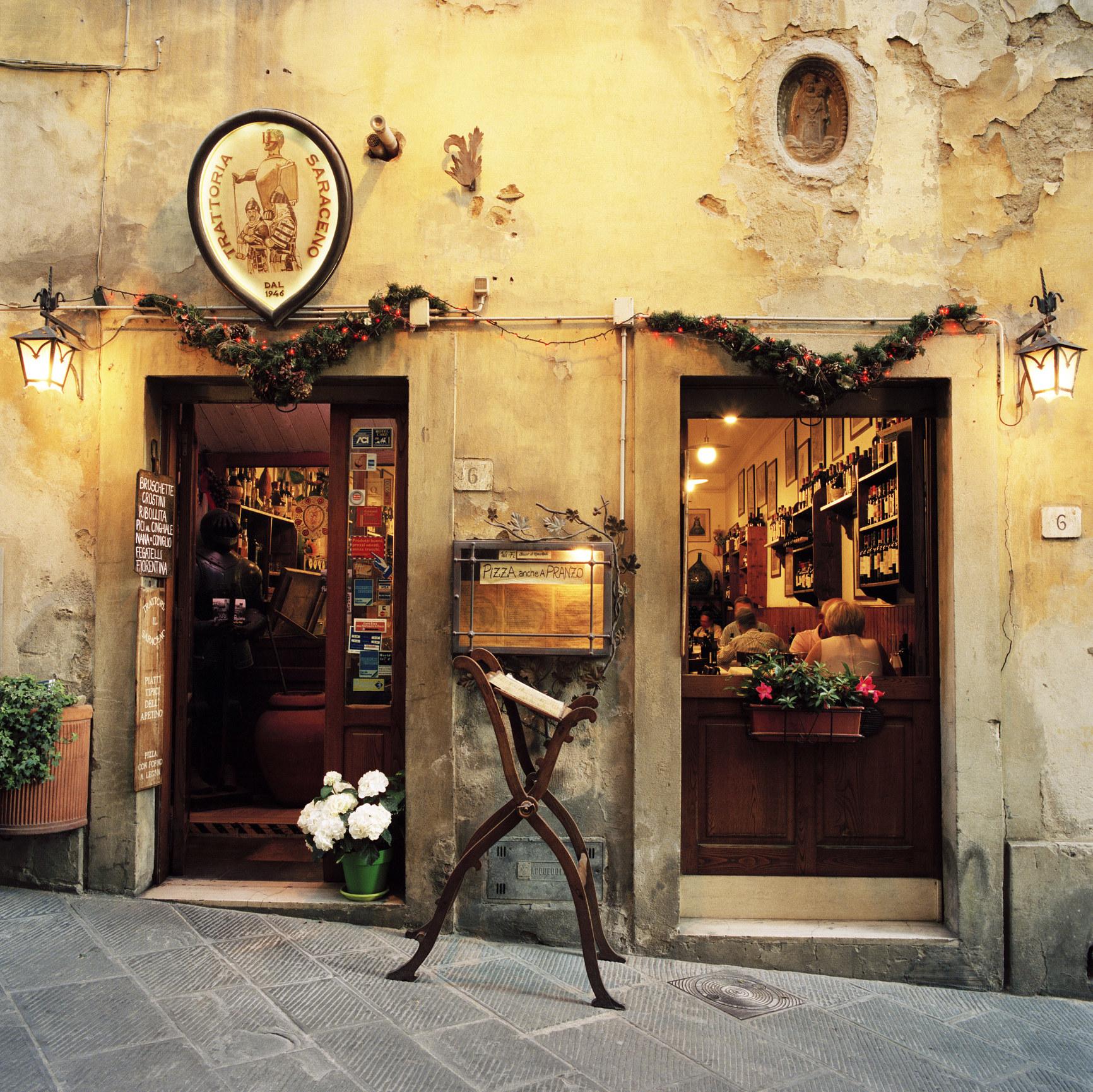 A quaint Italian restaurant.