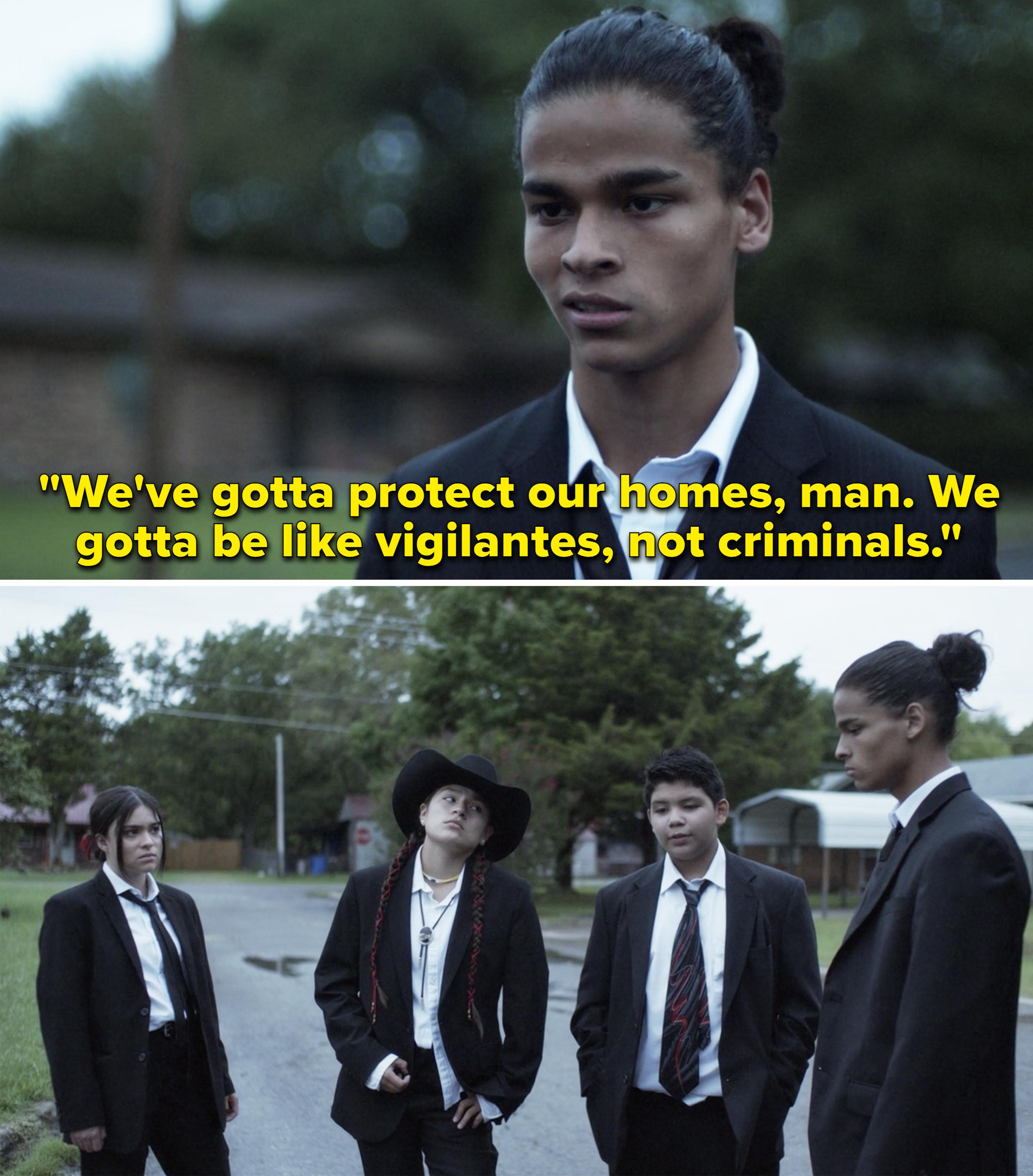 "Bear saying, ""We've gotta protect our homes, man. We gotta be like vigilantes, not criminals"""