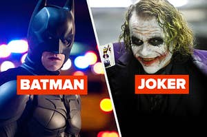 Batman and the Joker squaring off in battle