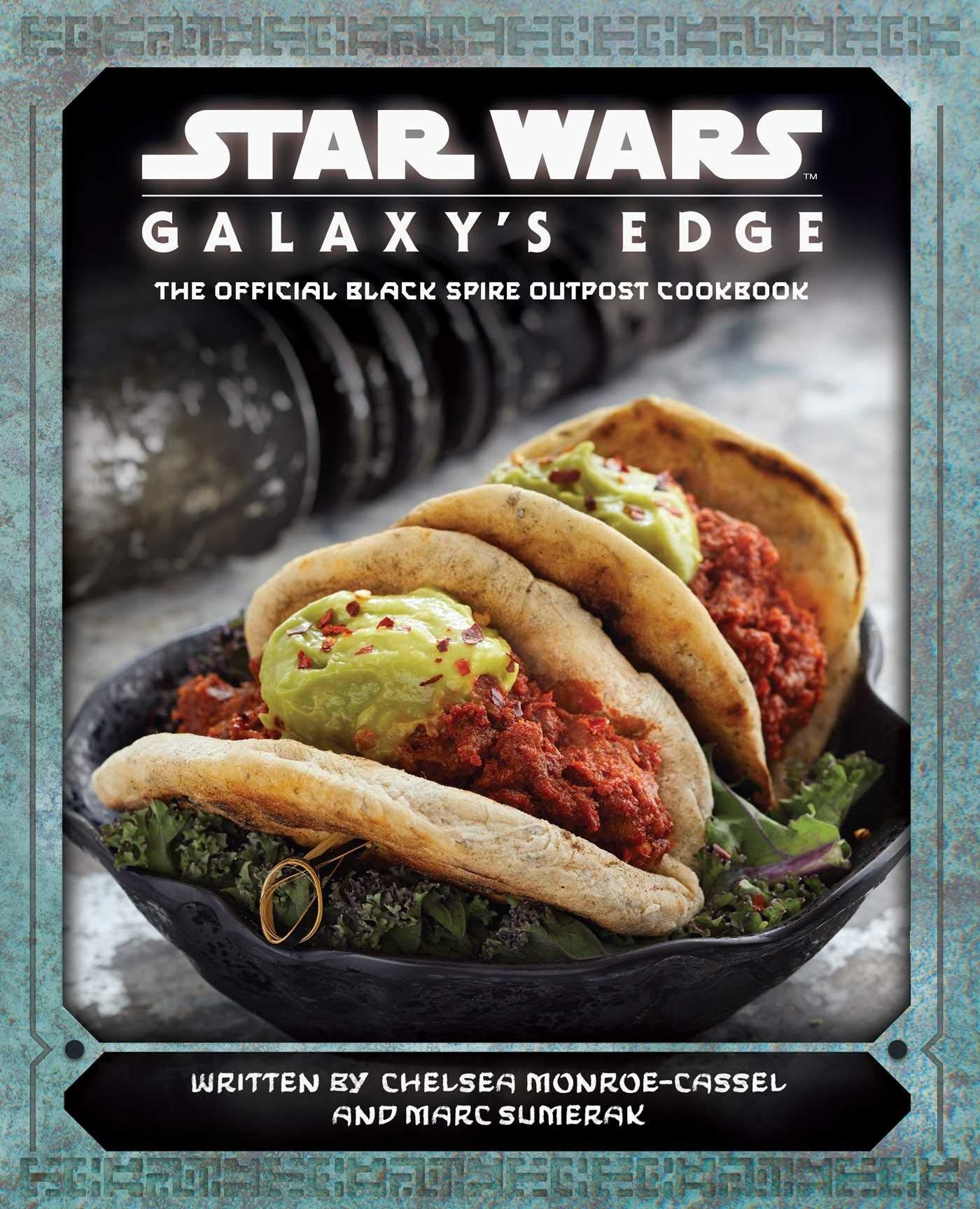cover of book showing two taco-like meals served on top of mixed greens