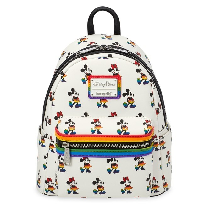 The rainbow mickey and minnie backpack