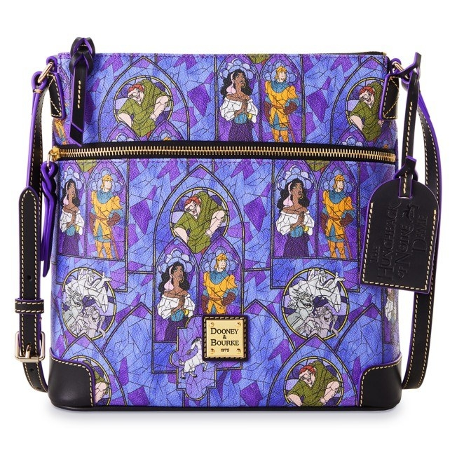 The bag with a unique hunchback of notre dame inspired print