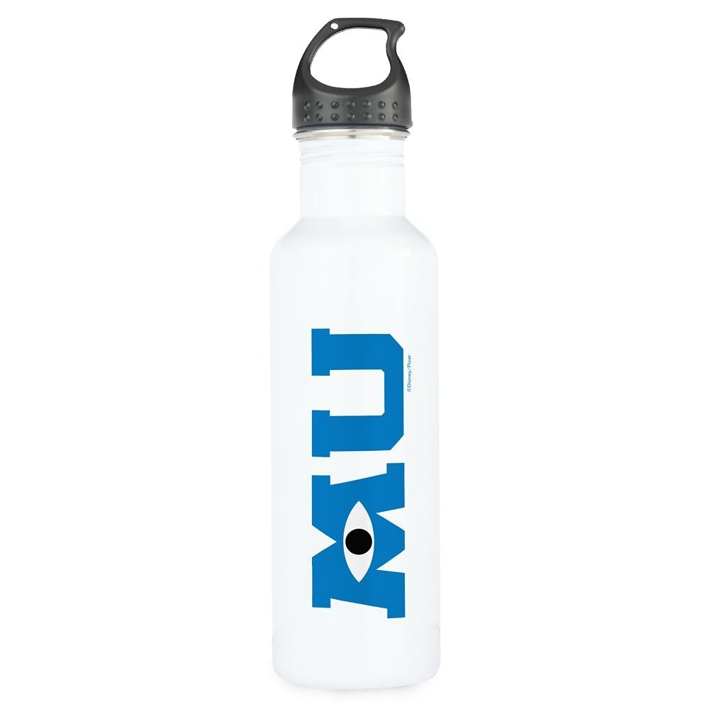 The water bottle with the monsters university logo