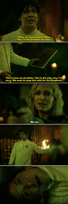 Clarke shooting Bellamy