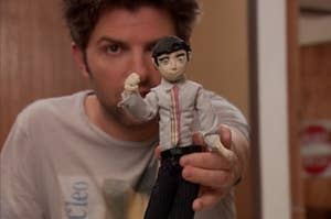 ben holds up a claymation doll