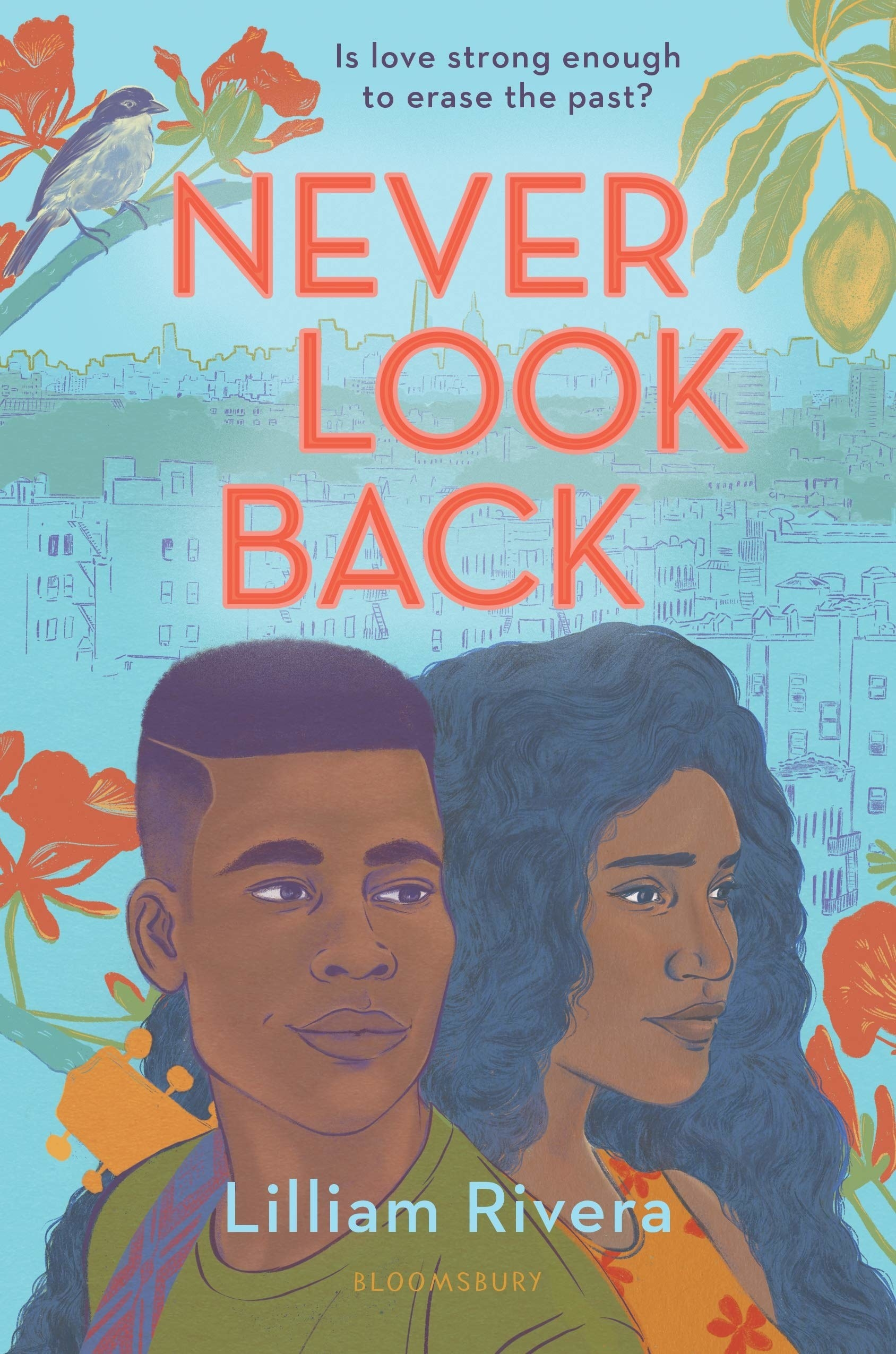Never Look Back cover. Book by Lilliam Rivera