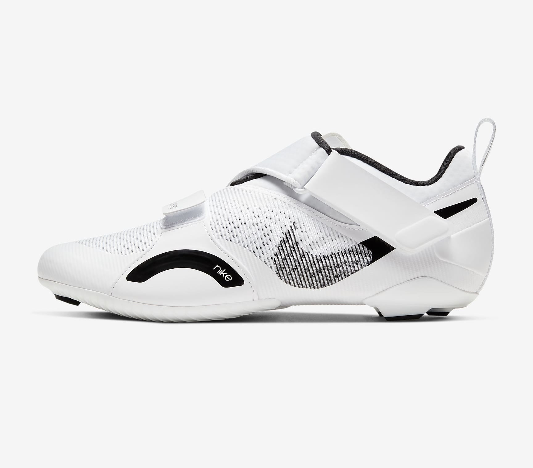 White SuperRep cycling sneakers with black detailing