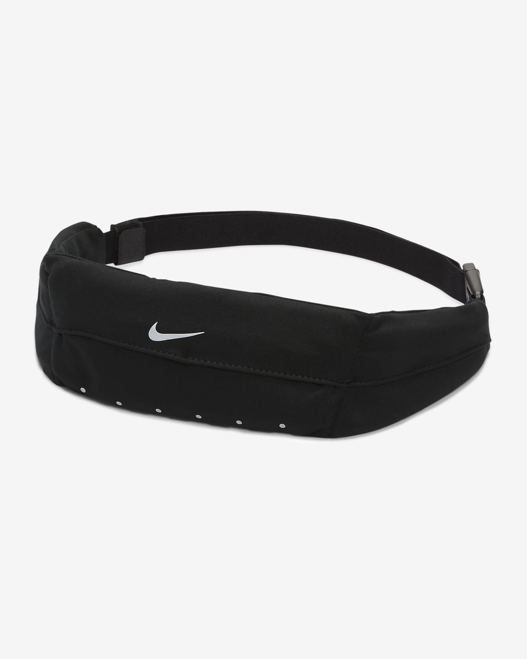 Black fanny pack white white Nike check logo