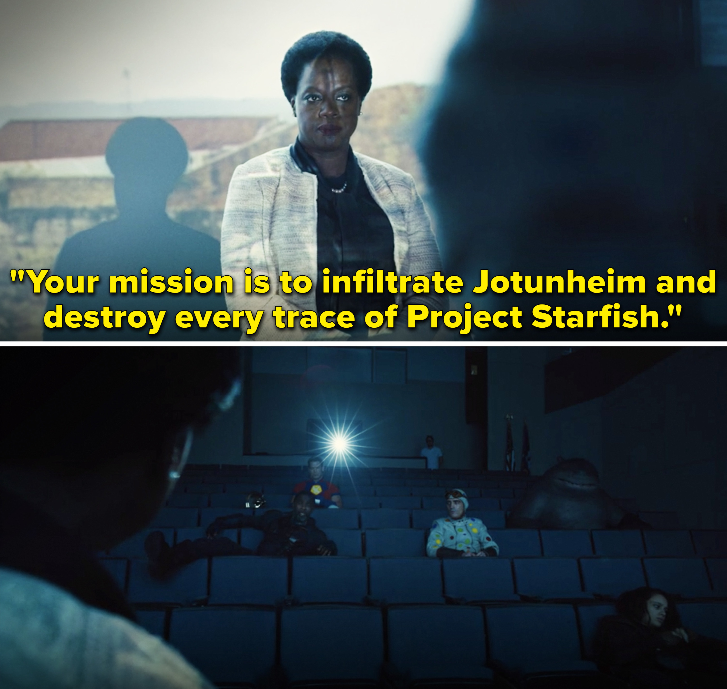 """Amanda saying,""""Your mission is to infiltrate Jotunheim and destroy every trace of Project Starfish"""""""