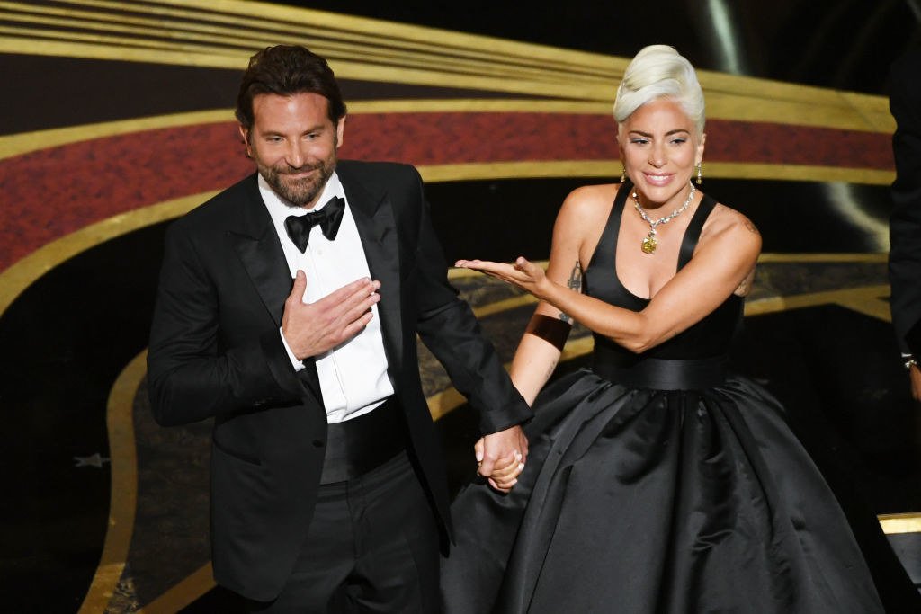 Bradley and Lady Gaga onstage after performing at the Oscars