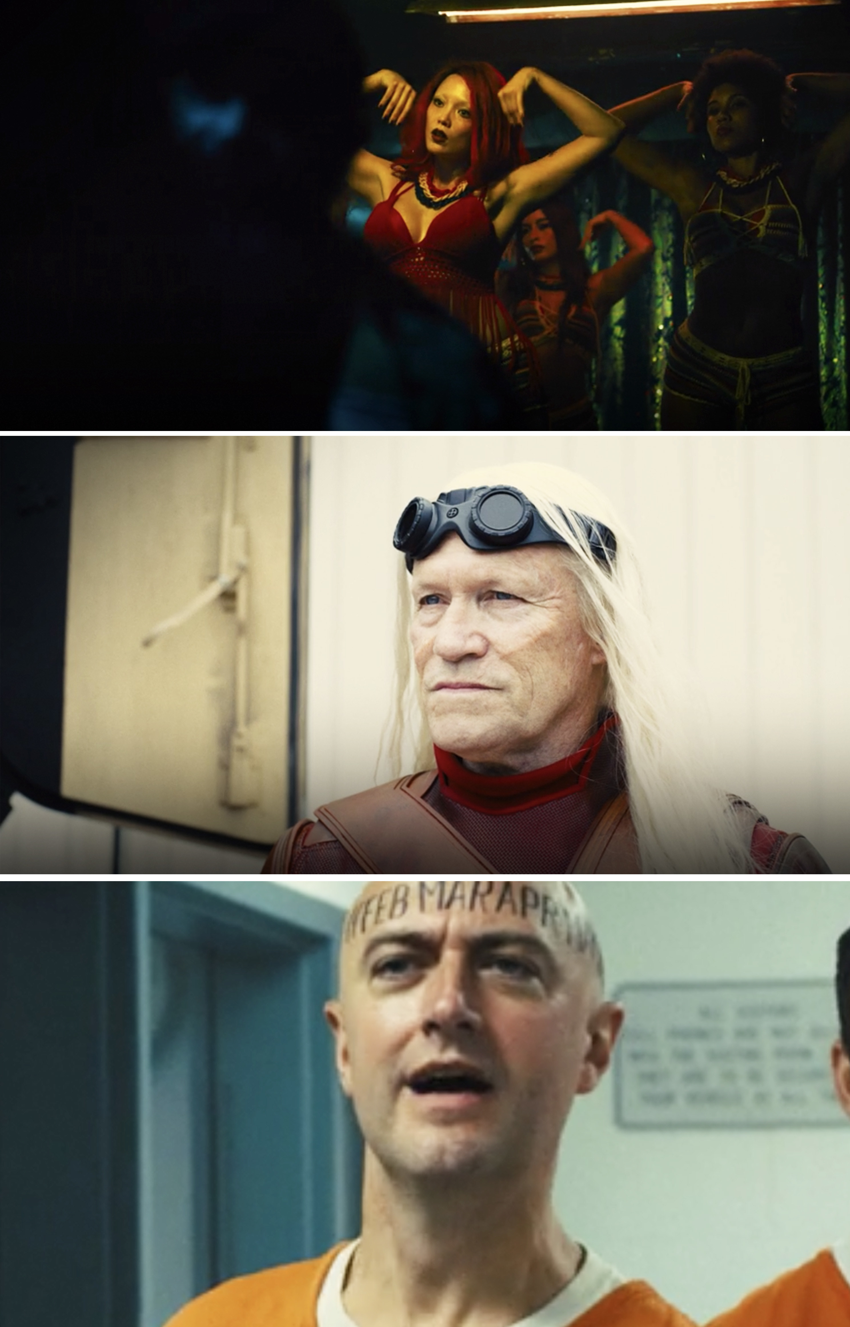 Pom Klementieff, Michael Rooker, and Sean Gunn in The Suicide Squad