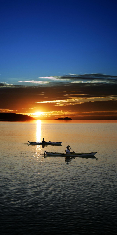 Kayaking on Lake Superior.
