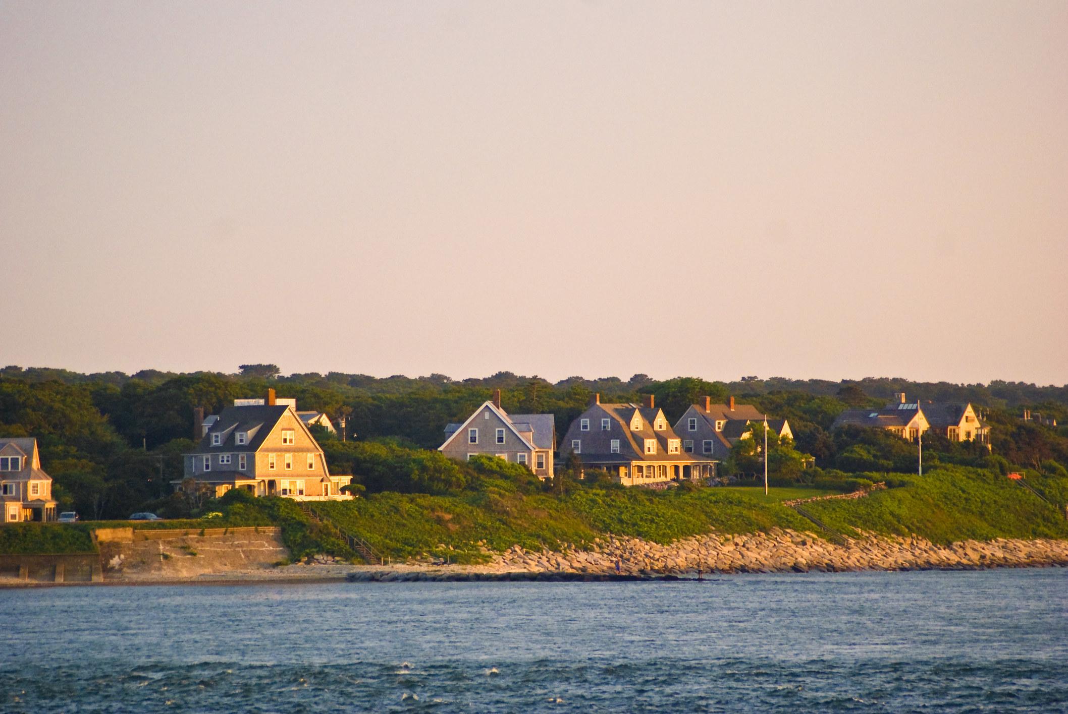 Seaside houses on Cape Cod.
