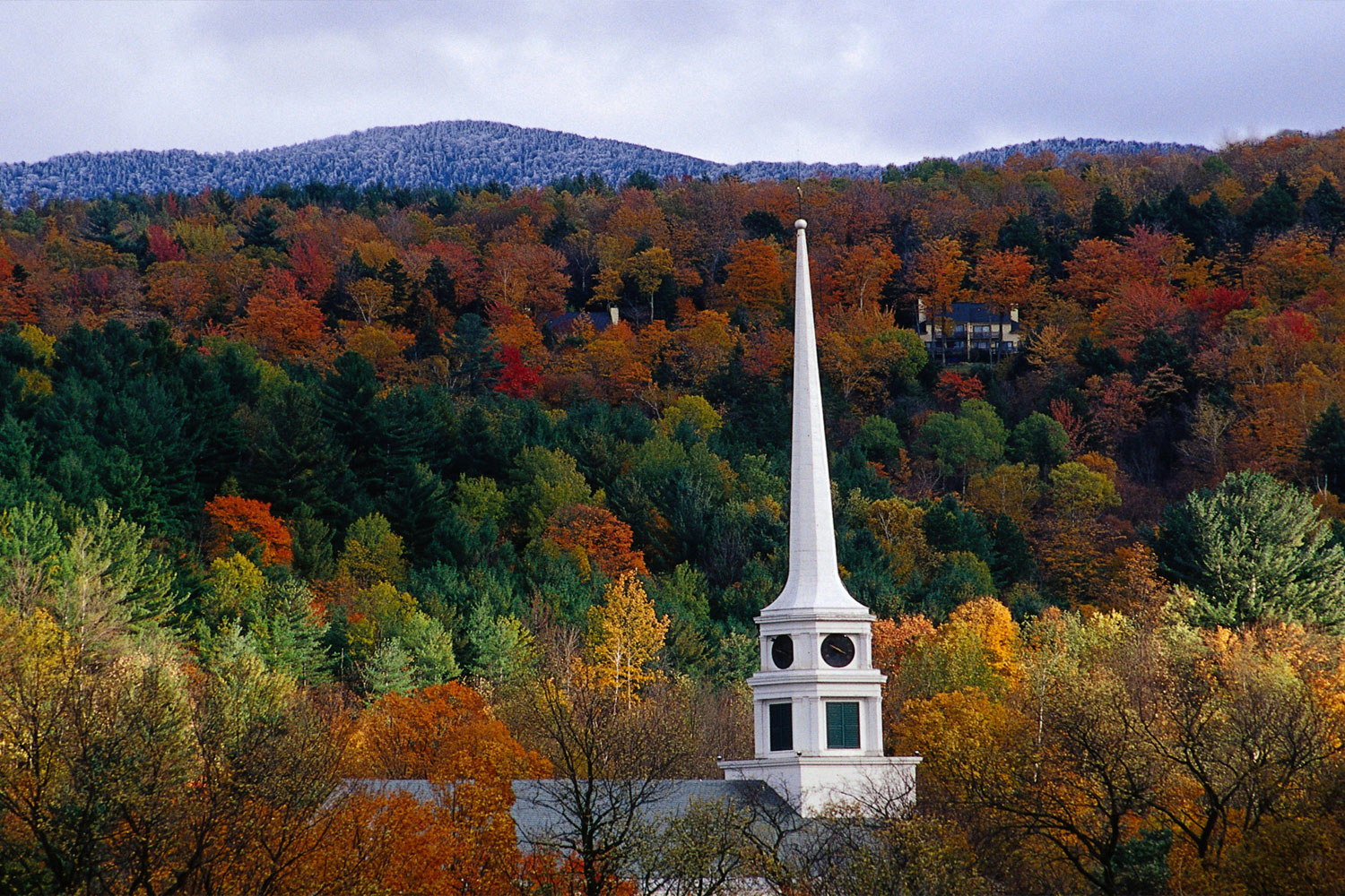 Stowe, Vermont during the fall.