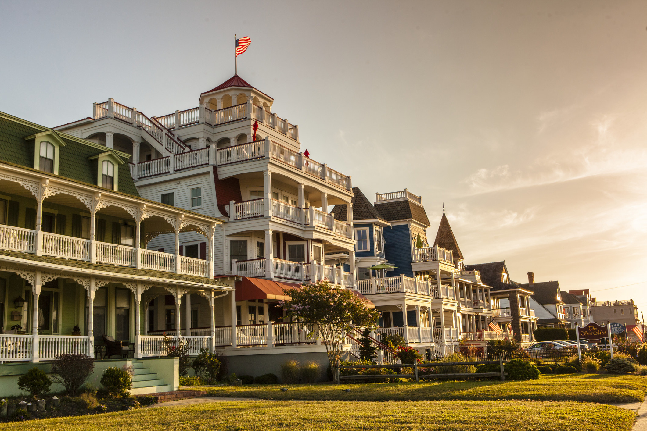 Victorian buildings in Cape May, NJ.