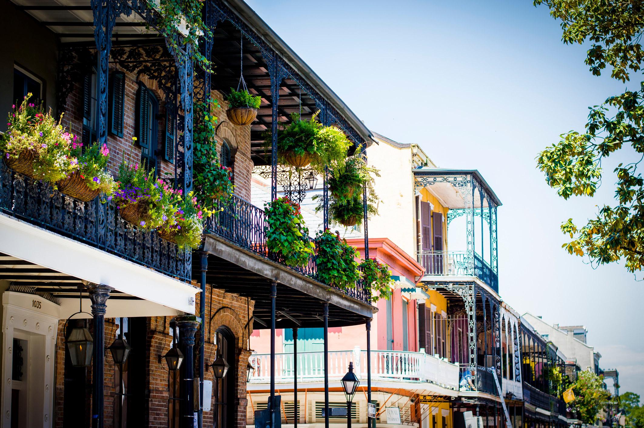 Balconies in New Orleans.
