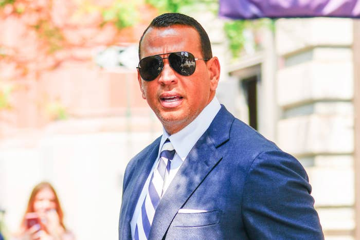 Alex Rodriguez is pictured outside in New York City in July of 2021