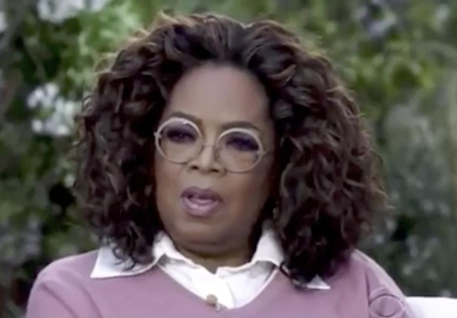 shocked and horrified Oprah