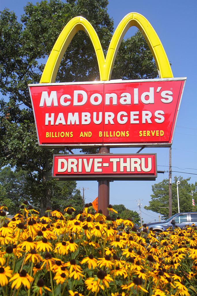 A McDonald's drive-thru restaurant.