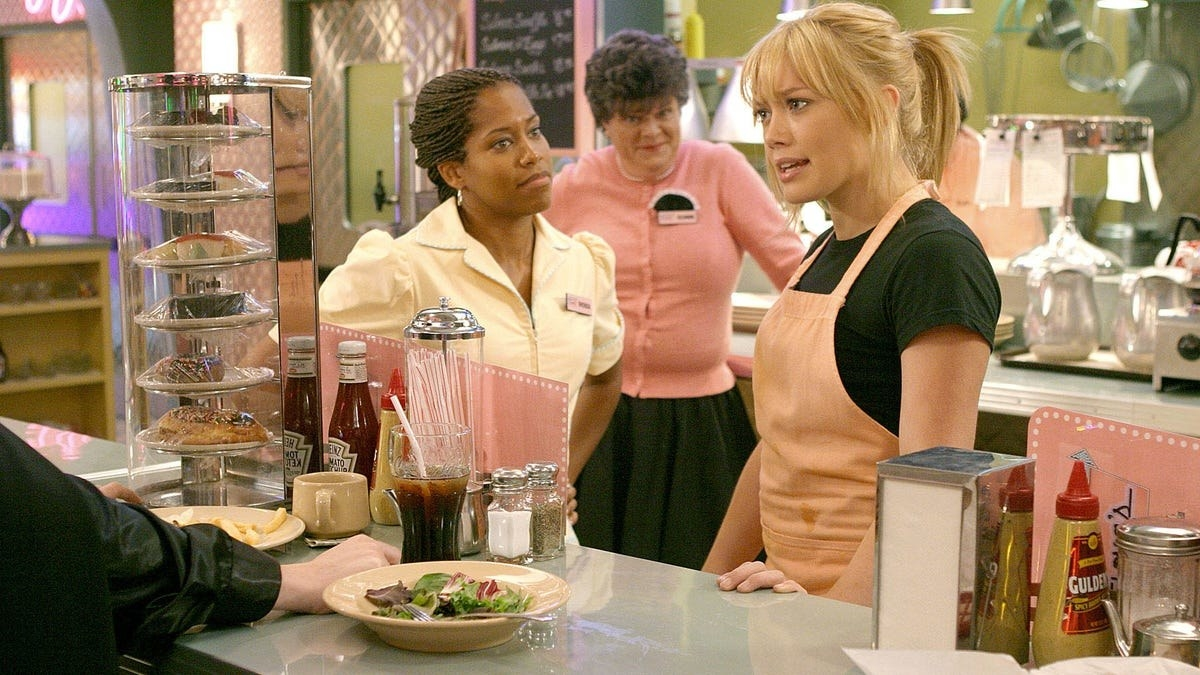 """Hillary Duff as a waitress in """"Cinderella Story."""""""