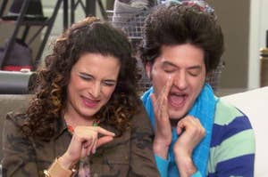 Jean-Ralphio (Ben Schwartz) and Mona-Lisa Saperstein (Jenny Slate) from Parks and Recreation