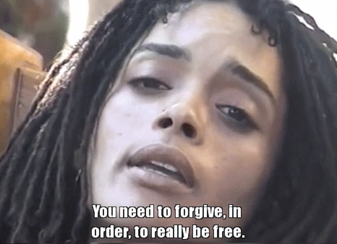 """Lisa Bonet saying: """"You need to forgive in order to really be free"""""""