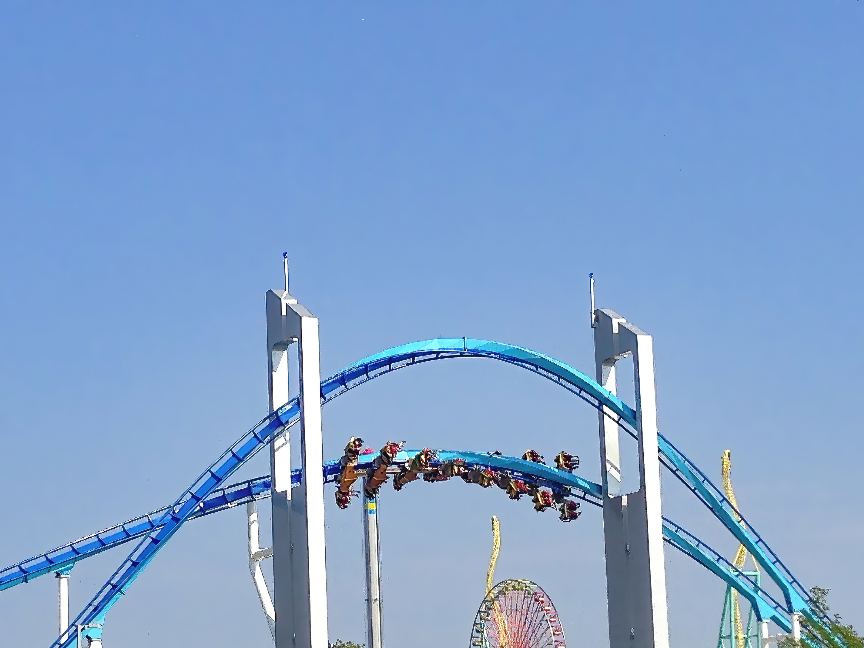 A rollercoaster at Cedar Point