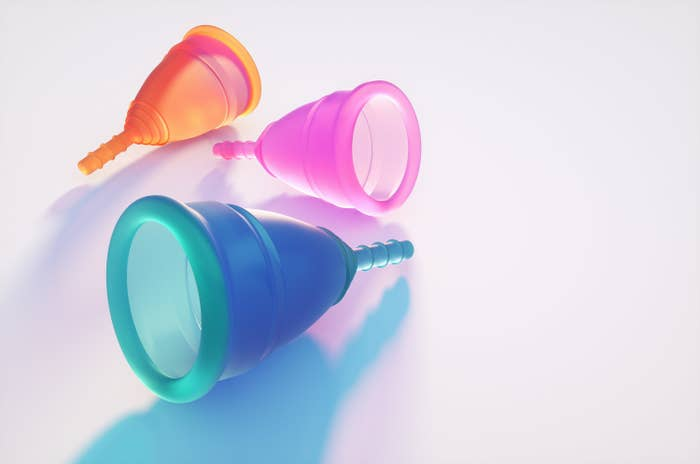 Multicolored menstrual cups