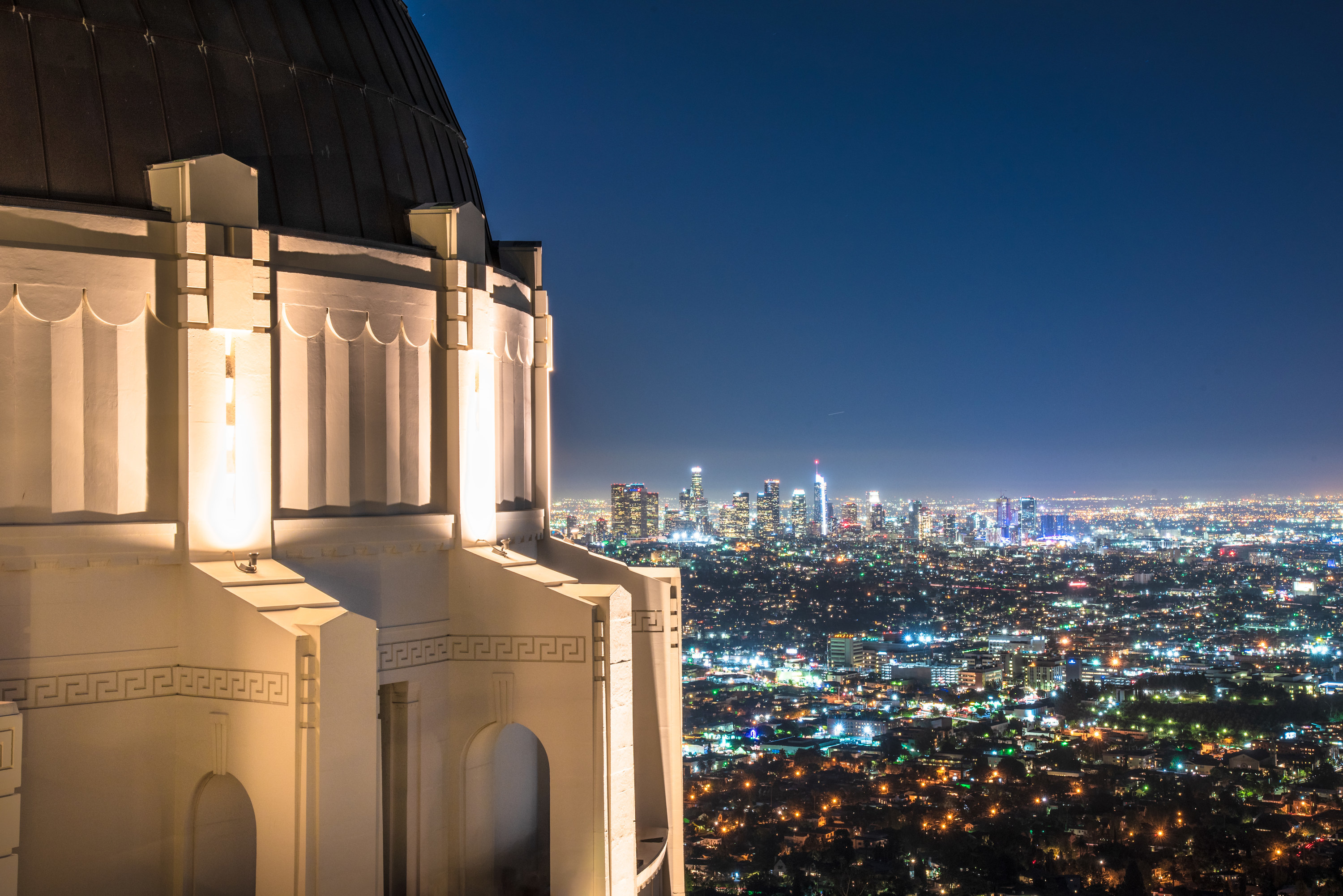 The Griffith Observatory in California