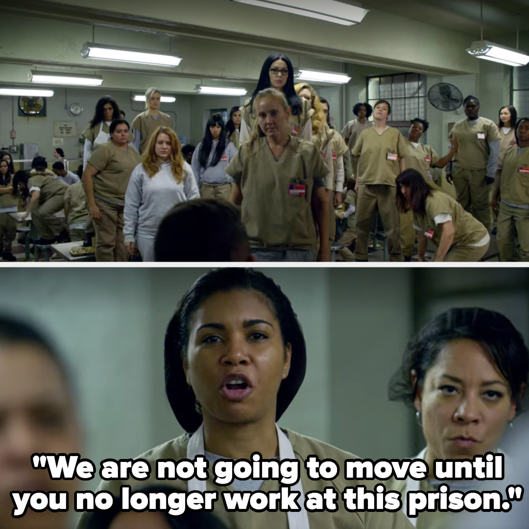 """The women all stand on tables and Maria says """"We are not going to move until you no longer work at this prison"""""""