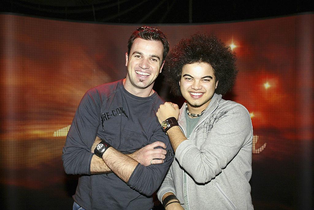 Shannon Noll and Guy Sebastian before the Australian Idol finale