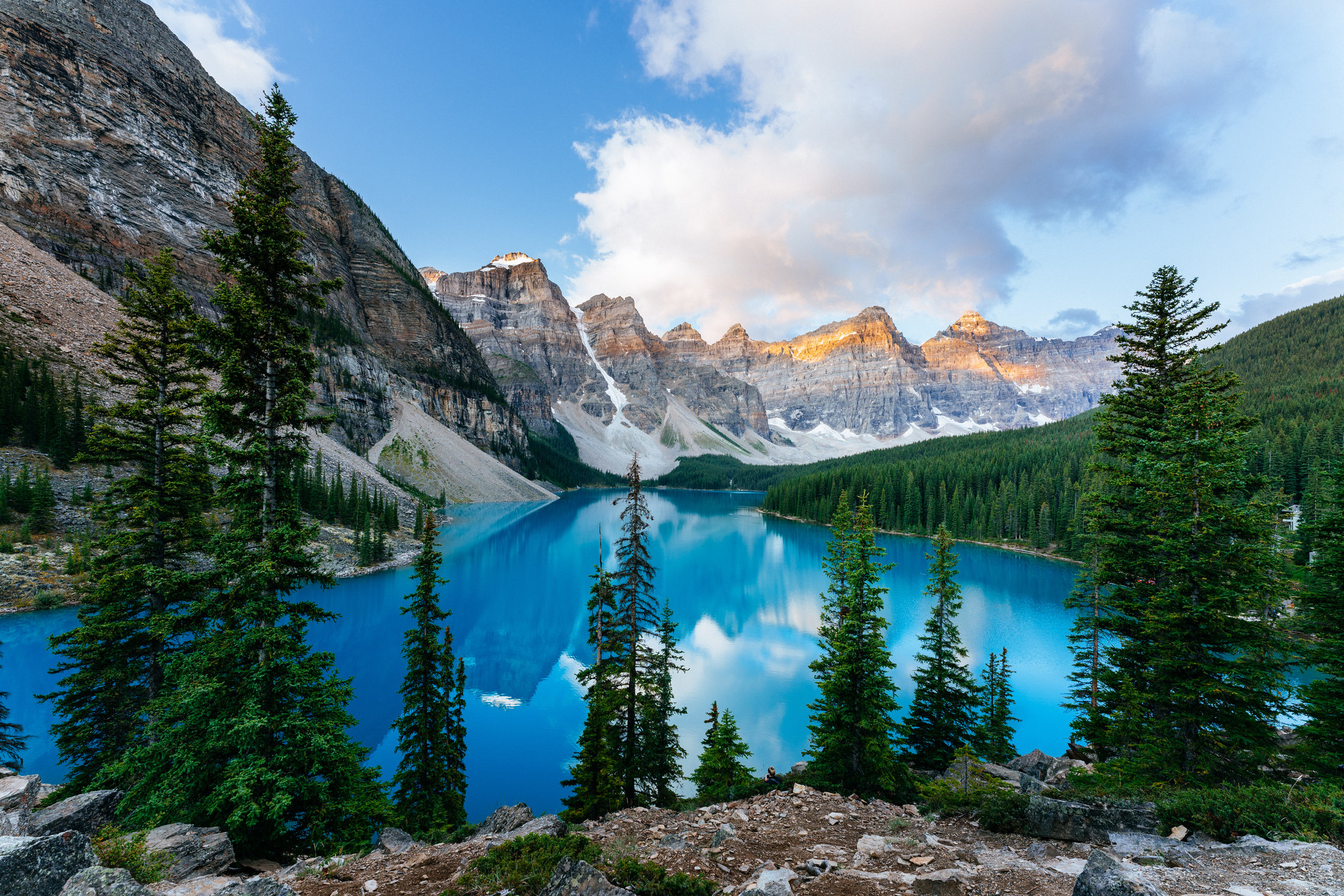 A view of the lake in Banff National Park.