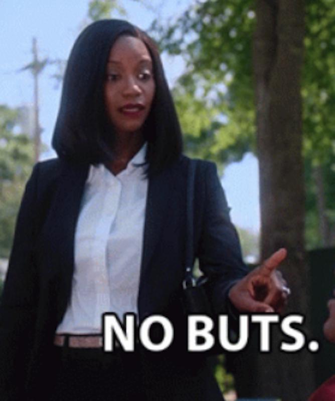 "Taja Simpson on ""The Oval"" saying: ""No buts"""